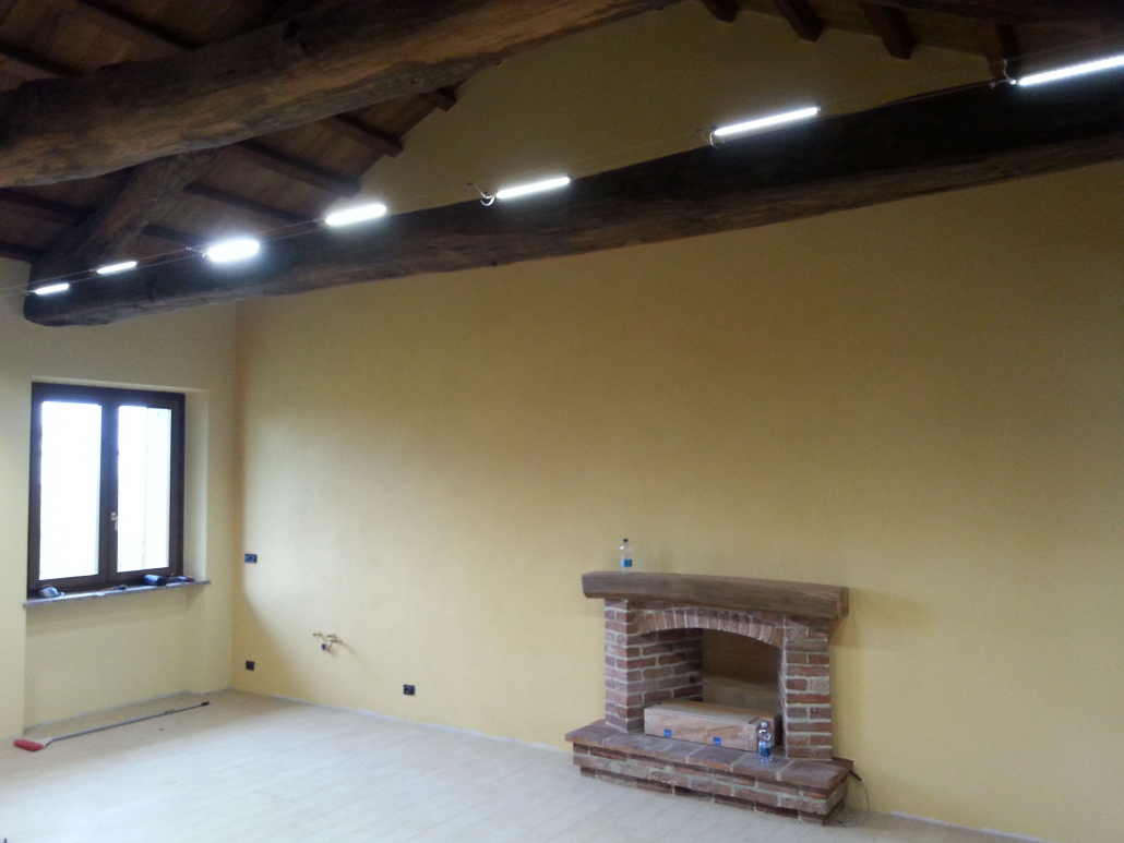 Travi A Vista Illuminazione illuminazione per soffitti con travi a vista | soleambiente